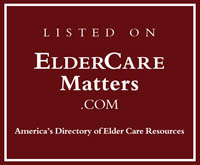 listed on eldercarematters.com directory elder care resources